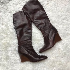 J crew genuine leather pointed boots size 6